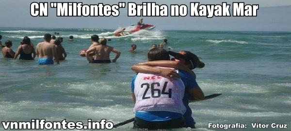 Festejos de atletas do CN Milfontes