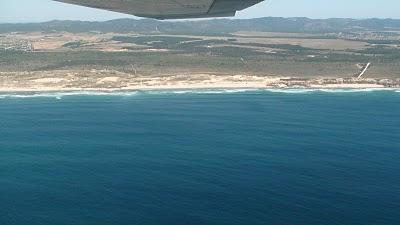 fotografia áerea praia do malhão
