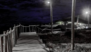 praia do farol à noite