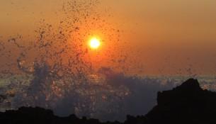 pôr-do-sol em vila nova de milfontes