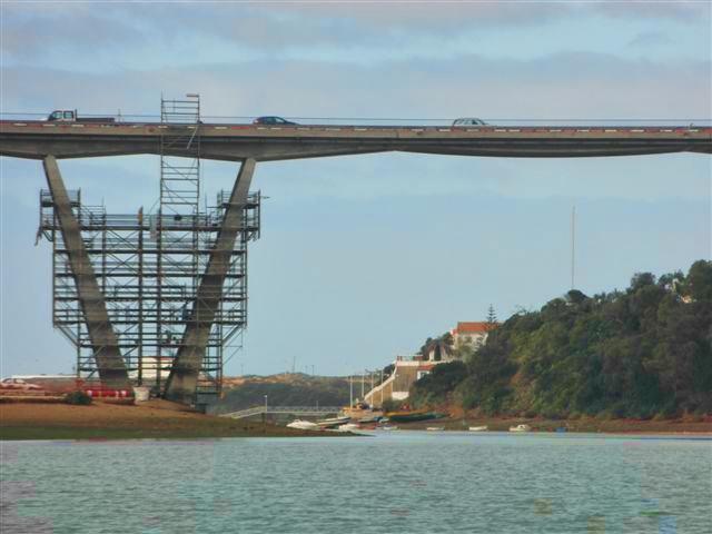 ponte de milfontes em obras