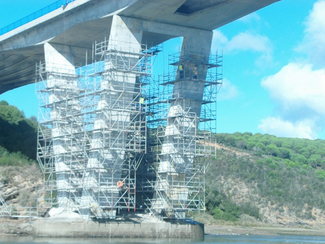 ponte de vila nova de milfontes em obras